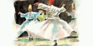 Tarian Rumi (pinterest.com)