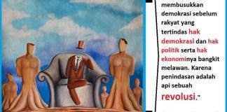 """Lukisan """"Negara Tanpa Kepala Negara"""" karya Bismar Siagaan. Ilustrasi: NUSANTARANEWS.CO"""