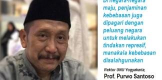 Rektor Universitas Nahdlatul Ulama, Prof. Purwo Santoso. Foto Ucok Al Ayubbi/ NUSANTARANEWS.CO