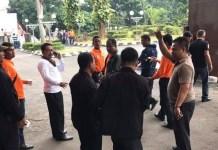 Beberapa Oknum dari Kementrian Sosial Bersitegang dengan Panitia Simposium/Foto Dok. Pribadi/Nusantaranews