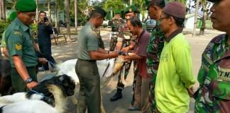 Upacara Penyerahan Hewan Qurba. Foto: Feri/ NusantaraNews.co