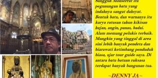 Saat Dennya JA mengunjungi Black Madonna di Montserrat. Ilustrasi: NusantaraNews.co/ Foto: Dok. Pribadi