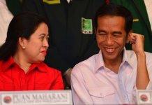 Jokowi bersama Puan Maharani/Foto via dekandidat/Nusanataranews