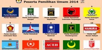 Partai Politik peserta Pemilu 2014 silam. (Foto: Istimewa)