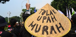 Tolak Upah Murah/Foto via infobrekingnews/Nusantaranews