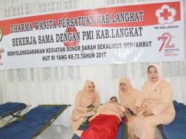 Sambut HUT RI ke-72: DWP Langkat Gelar Donor Darah. Foto: Dok. NGOGESASITEPU.ID