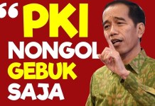 Jokowi: Gebuk PKI. (Foto: Scrennshot YouTube)