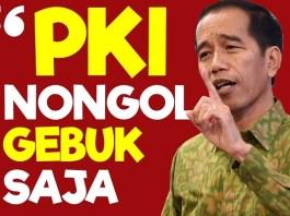 Jokowi: Gebuk PKI. (Foto: Scrennshot YouTube)
