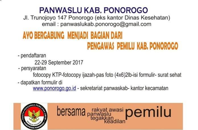 Pengumuman Pendaftaran Calon Panwaslu Kecamatan Se-Ponorogo Belum Terpasang di Kecamatan (Ilustrasi). Foto Muh Nurcholis/ NusantaraNews.co