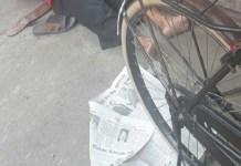 Seorang kakek di Ponorogo terserang jantung saat mengendarai sepeda kemudian tersungkur dan meninggal dunia. (Foto: Muh Nurcholis/NusantaraNews)