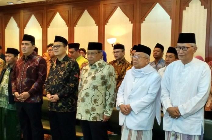 Jajaran Penguru NU Pusat Saat Launcing Munas Alim Ulama 2017 di Gedung PBNU. (Foto: Ach. Sulaiman/Nusantaranews)