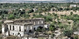 Kota Agdam di Azerbaijan. (Foto Weebly.com/Nusantaranews)