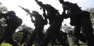 Latihan perang militer Korea Selatan. (Foto: AFP)