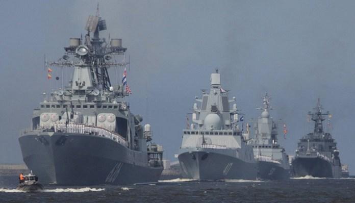 Kapal Perang Rusia (Russian Warships). (Foto: Reuters)
