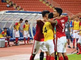 Selebrasi Timnas Muda U-16 Saat Bekuk Thailand 1-0. Kemenangan itu Membuat Indonesia Puncaki Klasemen Grup G/Foto Istimewa/Nusantaranews