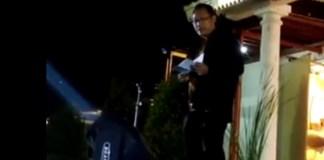 Ketua Museum Basoeki Abdullah, Joko Marsono saat sambutan dalam pembukaan acara di Museum Negeri Provinsi Banten, Sabtu malam (09/09/2017). Foto: Istimewa/NusantaraNews.co