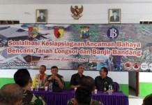 BPBD Kabupaten Jember bersama Kodim 0824 Jember dan Bank Indonesia gelar sosialisasi kesiapsiagaan bencana tanah longsor. Foto Sis24/ NusantaraNews