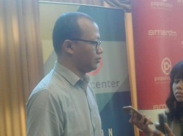 Peneliti Indonesia Corruption Watch (ICW), Emerson Yuntho. Foto Ucok Al Ayubbi/ NusantaraNews