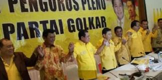 Setya Novanto Sehat Bugar Pimpin Pleno DPP Golkar di Aula Graha Widya Bhakti, Kantor DPP Golkar, Slipi, Jakarta Barat, Rabu (11/10/2017). Foto Richard Andika/ NusantaraNews