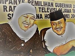 Calon Gubernur jawa Timur untuk Pilgub 2018 mendatang, Syaifullah Yusuf dan Khofifah Indar Parawansa. (Foto: Istimewa/NusantaraNews)