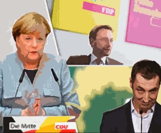 Ilustrasi Merkel dan Koalisi Jamaica/Sumber foto Express.co.uk