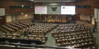 Penyerahan Ikhtisar Hasil Pemeriksaan Semester (IHPS) I/2017 ke DPR (Foto Andika/Nusantaranews)