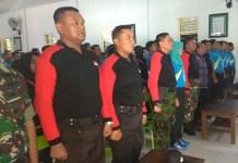 Kasdim 0806/Trenggalek Mayor Inf Misirin menutup pelaksanaan Diklat Bela Negara. Foto Timbul M/ NusantaraNews