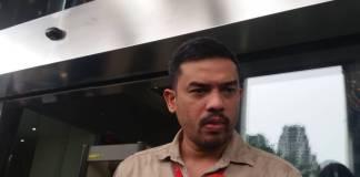 Wasekjen Partai Golkar, Maman Abdurahman menjadi salah satu saksi meringankan tersangka kasus korupsi e-KTP, Setya Novanto. Foto: Restu Fadilah/NusantaraNews