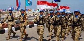Personil pasukan permaian Indonesia di misi perdamaian Perserikatan Bangsa-Bangsa (PBB). Foto: Dok. Setkab
