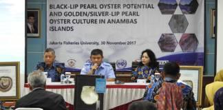 Seminar Black Lip Pearl Oyster Potential and Golden/Silver Lip Pearl Oyster Culture in Anambas Islands, Kamis (30/11), di Kampus STP Jakarta. Foto: Dok. KKP/Istimewa