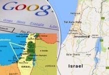 Ilustrasi Peta Palestina di Google Maps