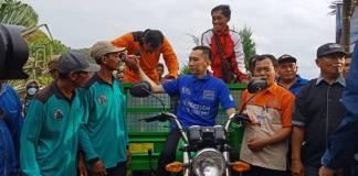 Anggota Komisi X DPR RI Edhie Baskoro Yudhoyono atau biasa disapa Ibas mengatakan Pacitan sudah kembali normal pasca diterjang bencana alam banjir dan longsor beberapa waktu lalu. Foto: Muh Nurcholis/NusantaraNews