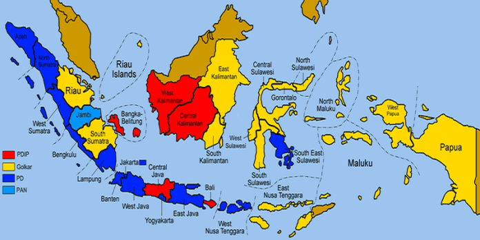 Peta geopolitik Indonesia. Foto: Wikimedia