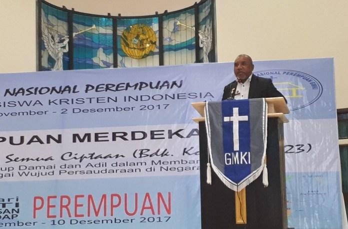 Ketua Umum Sinode Gereja Masehi Injili di Halmahera (GMIH) Pdt. Demianus Ice. Foto: Dok. Perempuan GMKI/ NusantaraNews