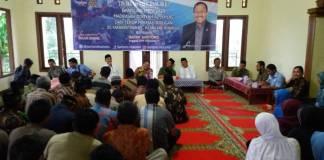 Sartono Hutomo melakukan silaturahmi bersama tokoh masyarakat dan jamaah Yassin di sejumlah wilayah yang ada di Kabupaten Ponorogo, Jawa Timur. Foto: Muh Nurcholis/NusantaraNews