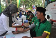 Donor darah kader Ansor Way Kanan