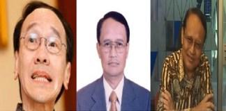Tersangka kasus pencucian uang dan korupsi Kondensat Honggo Wendratmo, Djoko Harsono dan Raden Priyono. Foto: Istimewa