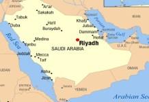 Peta Yaman-Arab Saudi