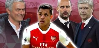 Sanchez, Mourinho, Guardiola, dan Wenger (Foto Metro.co.uk)