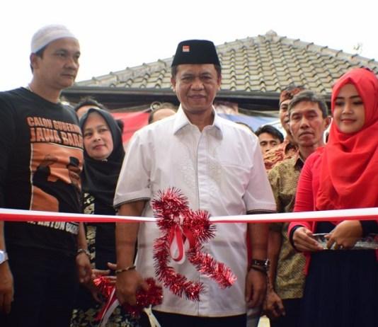 Posko Relawan Tembong Agung Sumedang diresmikan Anton Charliyan (Foto Istimewa/Nusantaranews)