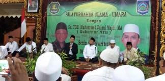 Dr. TGB. Muhammad Zainul Majdi MA Gubernur NTB saat memberikan tausyiyah kepada ulama umaro di Pendopo Agung Sumenep Madura
