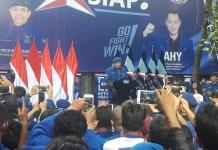 Pengukuhan Agus Harimurti Yudhoyono (AHY) sebagai Komandan Satuan Tugas Bersama (Kogasma) untuk Pemilukada 2018 dan Pilpres 2019. (Foto: Istimewa)