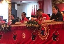 Joko Widodo (Tengah) rapat kerja nasional (rakernas) PDIP III Tahun 2018 di Inna Grand Beach, Sanur, Bali, Jumat (23/2). (Foto: NUSANTARANEWS.CO/IStimewa)