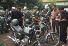 Inspeksi mendadak kendaraan anggota Makodim Tuban. (Foto: Istimewa)