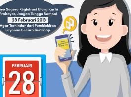 Kementerian Kominfo imbau lagi 28 Fabruari Batas Akhir Registrasi Ulang Kartu Prabayar Anda. (Ilustrasi Foto: Humas Kementerian Kominfo)