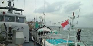TNI AL grebek kapal Sunrise Glory di Batam yang ternyata membawa 1 ton narkoba jenis sabu pada Rabu 7 Februari 2018. Foto: Dok. Istimewa