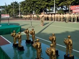 Sejumlah pejabat daerah di lingkungan provinsi Jawa Timur memperebutkan Piala Pangdam V Brawijaya. (Foto: Istimewa)