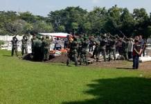 Upacara pemakaman militer Peltu (Purn) Wijono. (Foto: Istimewa)