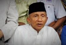 Mantan Ketua Majelis Perwakilan Rakya (MPR) Amien Rais saat menyabangi Kantor Komnas HAM. (Foto: Dok. NusantaraNews)