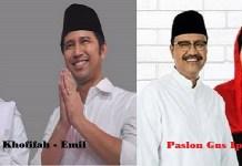 Pasangan calon gubernur dan wakil gubernur Jawa Timur di Pilkada Serentak 2018. (Foto: NusantarNews)